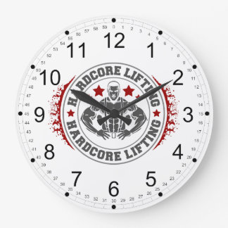 Hardcore Lifting Flexing Bodybuilder Large Clock