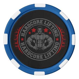 Hardcore Lifting Flexing Bodybuilder Poker Chips