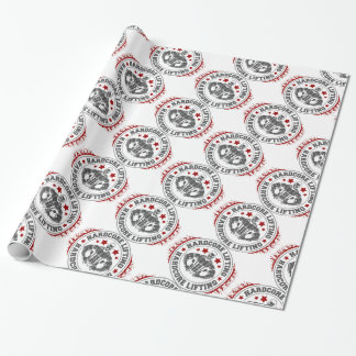 Hardcore Lifting Flexing Bodybuilder Wrapping Paper