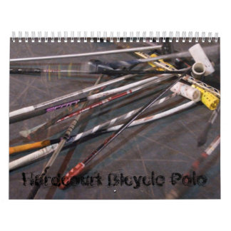 Hardcourt Bicycle Polo - Customized Wall Calendars