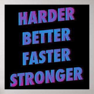 Harder Better Faster Stronger Poster
