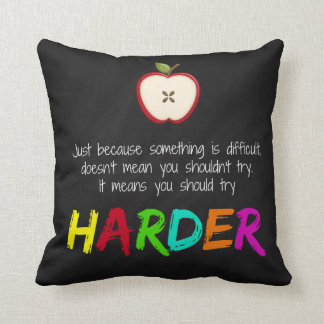 Harder Throw Pillow