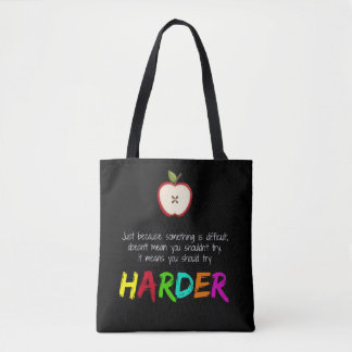 Harder Tote Bag