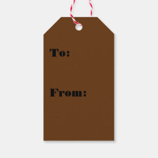 Hardily Earthy Brown Color Gift Tags