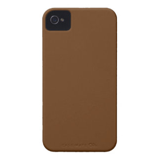 Hardily Earthy Brown Color iPhone 4 Case-Mate Cases