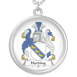 Harding Family Crest Silver Plated Necklace
