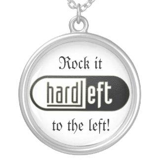 HardLeft bling 1 Round Pendant Necklace