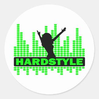 Hardstyle Dancer tempo design Classic Round Sticker