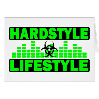 Hardstyle Lifestyle hazzard and tempo design Card