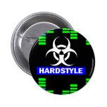 Hardstyle pattern 2 inch round button