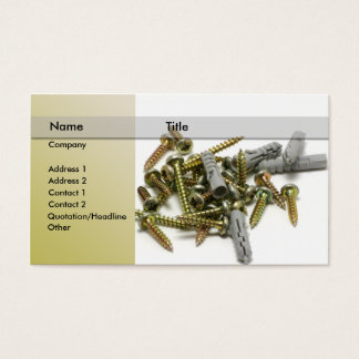 hardware \ Bolts and screws Business Card