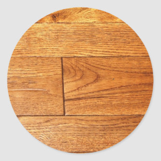 Hardwood floor classic round sticker