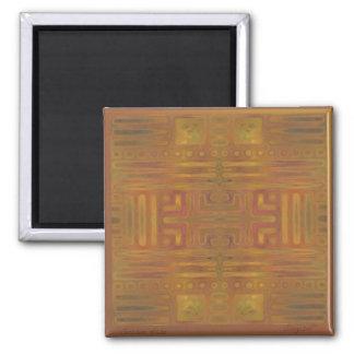 Hardwood Hill Golden Haze Abstract Magnet