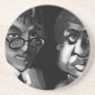 Hardy and Ramanujan Happy Pi Day Coaster