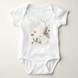 Hare and Dandelion, Kubo Shunman, Japanese Art Baby Bodysuit