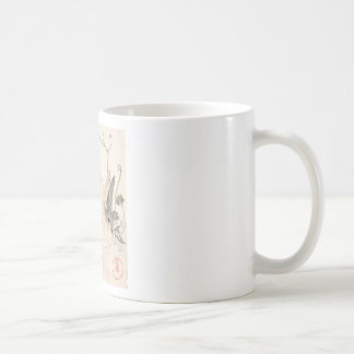 Hare and Dandelion, Kubo Shunman, Japanese Art Coffee Mug