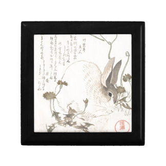 Hare and Dandelion, Kubo Shunman, Japanese Art Gift Box