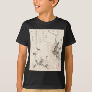 Hare and Dandelion, Kubo Shunman, Japanese Art T-Shirt