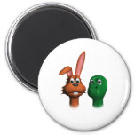 Hare and Tortoise01 Refrigerator Magnet