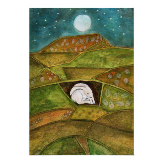 Hare at Pendle Hill Poster