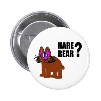 Hare Bear? 2 Inch Round Button