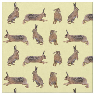 Hare Frenzy Fabric (Yellow)