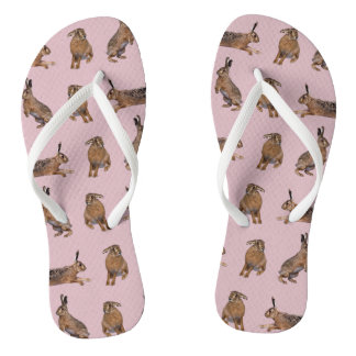 Hare Frenzy Flip Flops (Pink)