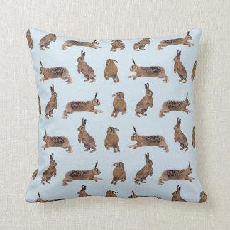 Hare Frenzy Pillow (Light Blue)