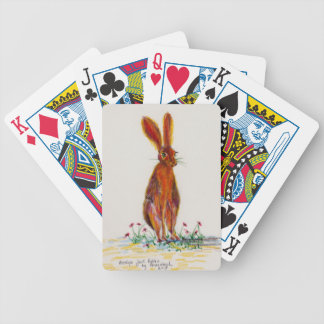 Hare in Poppies Bicycle Playing Cards