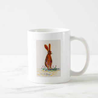 Hare in Poppies Coffee Mug