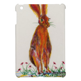 Hare in Poppies iPad Mini Cover