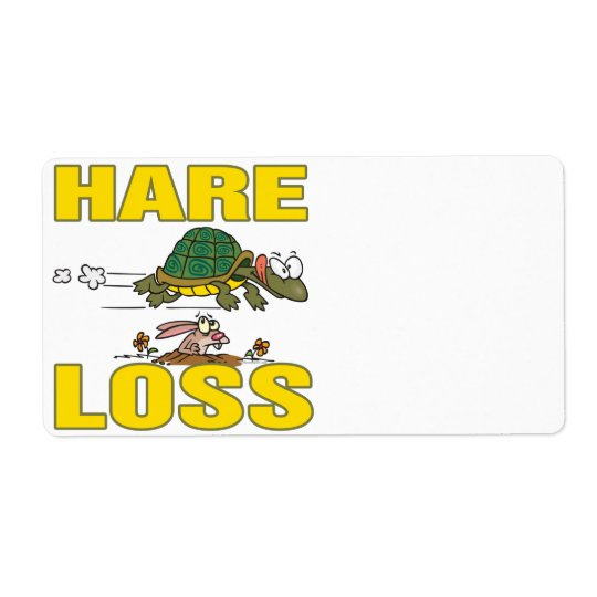 hare loss funny hair loss fable pun cartoon