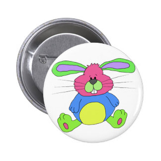 Hare rabbit 2 inch round button
