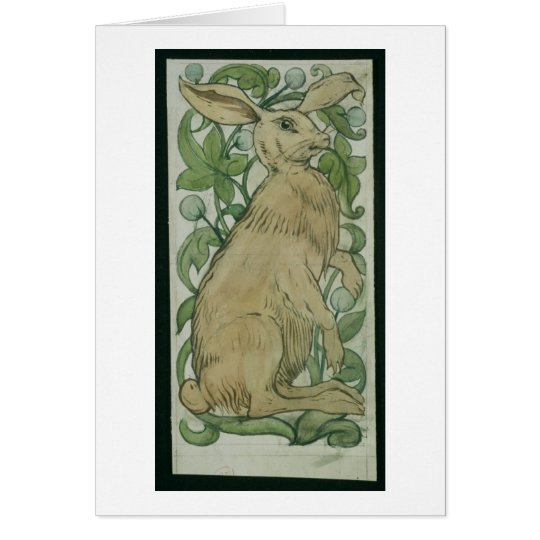 Hare (w/c on paper) card