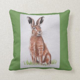 Hare Watercolour Throw Pillow