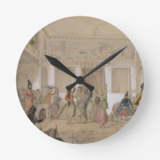 Harem Feast, Tehran (pencil & w/c on paper) Clock