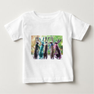 Hares with scarves baby T-Shirt