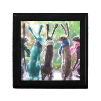Hares with scarves gift box