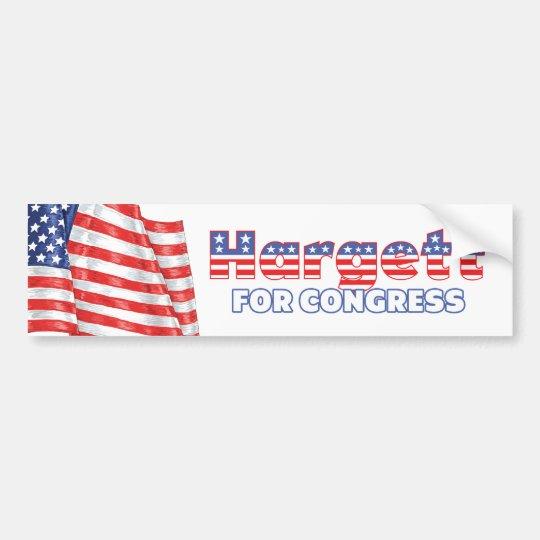 Hargett for Congress Patriotic American Flag Bumper Sticker