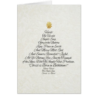 Hark the Herald Angels Sing Christmas Tree Card