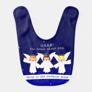 Hark! The Herald Angels Sing Glory To Newborn King Bib