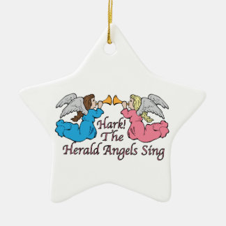 Hark! The Herald Angels Sing Christmas Tree Ornament
