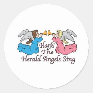 Hark The Herald Angels Sing Round Sticker