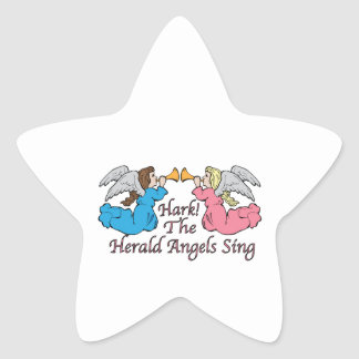 Hark The Herald Angels Sing Star Sticker
