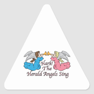 Hark The Herald Angels Sing Triangle Sticker