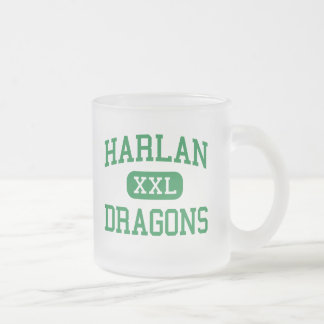 Harlan - Dragons - High School - Harlan Kentucky Frosted Glass Mug