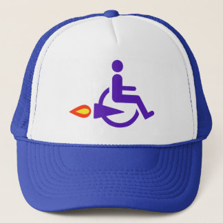 Harldy Handicapped funny Trucker Hat