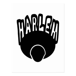 Harlem Graffiti Growing Out Of Big Afro With Face Postcard