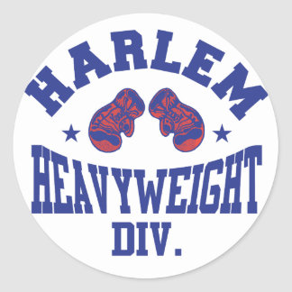 Harlem Heavyweight Blue Classic Round Sticker