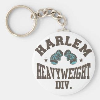 Harlem Heavyweight Mocha Basic Round Button Keychain